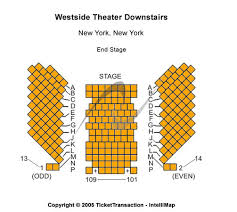 Westside Theatre Seating Chart Westside Theatre Downstairs Tickets In New York Seating