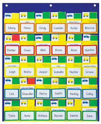 Classroom Helpers Pocket Chart Carson Dellosa Classroom Management Pocket Chart 158040
