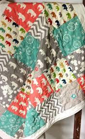 Organic Baby Quilt Fabric Organic Baby Quilts Elephant Baby Quilt ... & Organic Baby Quilt Fabric Organic Baby Quilts Elephant Baby Quilt Organic  Gender Neutralbirch Fabrics Elephants Ellie Adamdwight.com