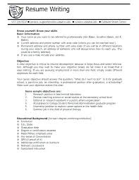 Objective For A College Student Resume Professional Resume College ...