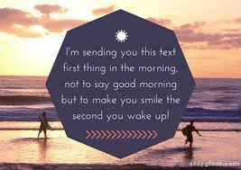 cute good morning text messages for her