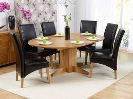 monte carlo solid oak extending dining table 6 roma leather chairs me home furnishings