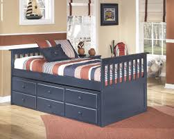 Leo Captains Bed With Trundle Storage