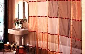 full size of curved shower curtain rod rail nz tension mount for tub bathrooms stunning