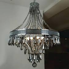 chandelier marvellous black metal crystal round chandeliers with silver canada chande