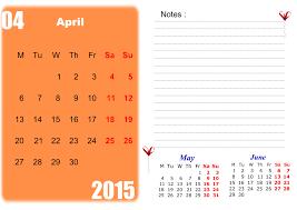 Blank April 2015 Calendar Printable Templates 2 Chainimage