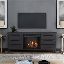freestanding electric fireplace tv stand in antique gray