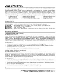 Technical Support Objective Resume Resume For Study