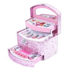 kids makeup set. kids pink glitter make up set gift box makeup