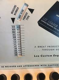 Lee Dipper Conversion Chart Vintage 1966 Lee Powder Measure Kit Nice Condition
