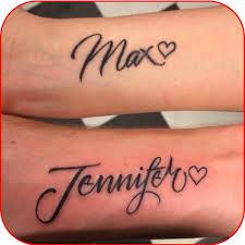 Písmo Tetování Jména Dětí
