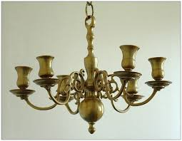 view photos of old brass chandelier showing 8 10