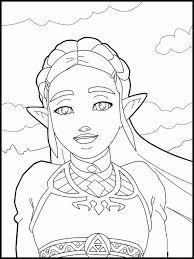 Kleurplaat Zelda 3