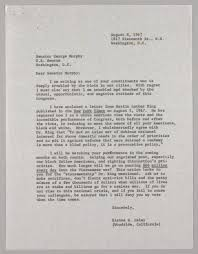 letter from elaine haley to senator george murphy   the martin    controls