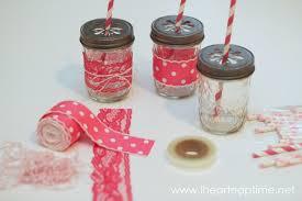 Decorating Mason Jars With Ribbon Fancy Mason Jar Cups DIY tutorial 22