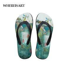 <b>WHEREISART</b> Comfort Men'S Flip Flops Beach Shoes Outside ...