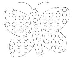 Download Or Print This Amazing Coloring Page Butterfly Do A Dot