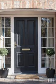 black front door with sidelightsThe 25 best Black front doors ideas on Pinterest  Front doors
