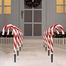 Outdoor Christmas Decorations Candy Canes Buy Pack of 60 Lighted Candy Cane Pathway Markers Outdoor Christmas 51