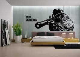 Small Picture Call of Duty style SNIPER GAMER TAG COD Boys Bedroom wall art