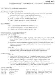Government Job Resume Samples