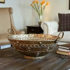 Extra Large Decorative Bowls Brown Bronze Metal Extralarge Decorative Bowl Free Shipping 4