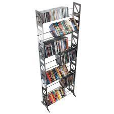 metal dvd rack black lerberg cd dvd rack shelf wall mount