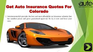 Auto Insurance Quotes Colorado