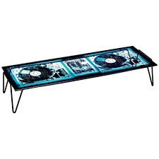 moroso xraydio coffee table in x ray printed plate glass and raw black steel for