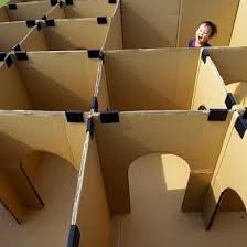 refrigerator box. if you just moved to a new place or happened get delivery of large appliances, can make cardboard maze that will entertain the kids for hours and refrigerator box x