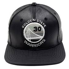 Golden Black Hat Leather 30 Strapback State Curry Nba Warriors
