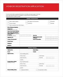 7 Vendor Registration Form Samples Free Sample Example Format