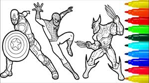 Iron man coloring pages is one of my favorite. Spiderman Iron Man Deadpool Captain America Wolverine Coloring Pages Superheros Coloring Pages Youtube