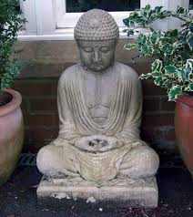 meditation stone buddha statue large garden ornaments co uk garden outdoors