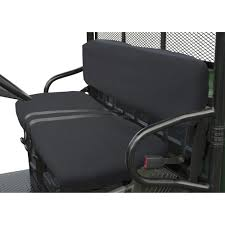 classic accessories quadgear utv seat cover black for polaris ranger bench seat model