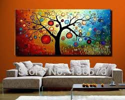 abstract tree wall art abstract tree wall art hand painted modern abstract money tree canvas wall