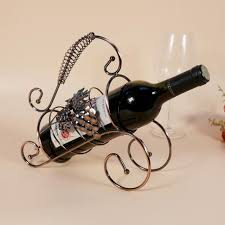 Decorative Wine Bottle Holders TYJJ 60 Iron Craft Home Decoration Wine Rack Metal Twisted Grape 3