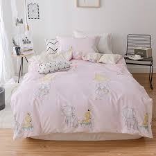 simple pink minimalist cartoon pattern bedding set black color cartoon duvet cover sheet bed cover single full size beddings cool bedding blue bedding sets