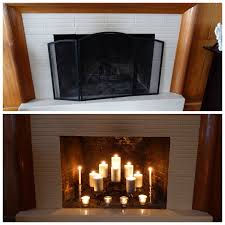 candles in a fireplace pictures fascinating candle insert pics ideas
