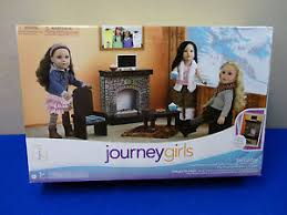 Journey Girls SKI LODGE Fireplace CHAIRS Table TV More For