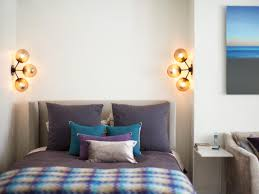 bedside lighting ideas. bedroomspacious bedroom bedside lighting with gold curtain and white headboard decor idea unique wall ideas