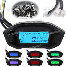 universal speedometer led motorcycle odometer speedometer tachometer universal digital 7 backlight sp
