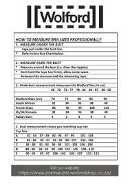 Wolford Bra Size Chart Wolford Bra Measure Chart By Brides Essence Issuu