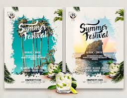 Summer Party Flyers Summer Party Flyer Template Graphicfy