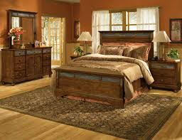 Rustic Master Bedroom Furniture Unique Log Four Drawers Dressing Table Log  Square Frame Wall Mirror Reverse Knife Profile Top Bed Side Table Tall  Windows ...