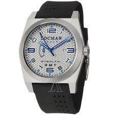 locman 200slkvl watch watches locman men s sport stealth gmt watch