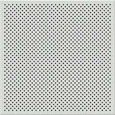 TopTile White 2 ft x 2 ft Perforated Metal Ceiling Tiles Case of