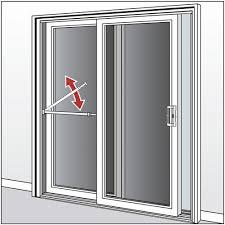 patio door security bar with anti lift lock