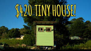 Small Picture Couple Builds Tiny House for Only 420 YouTube