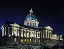 building facade lighting. San Francisco City Hall, Rear Building Facade Lighting